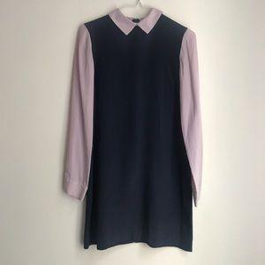 Club Monaco long sleeve collar dress, SILK